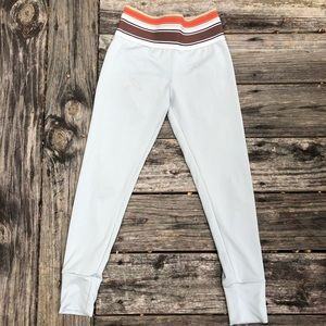 Olympia leggings, light blue & plush waist band